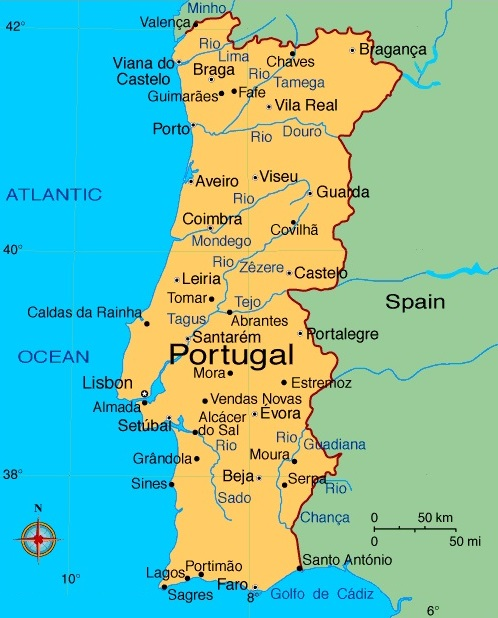History Of Portugal - Portugal map minho