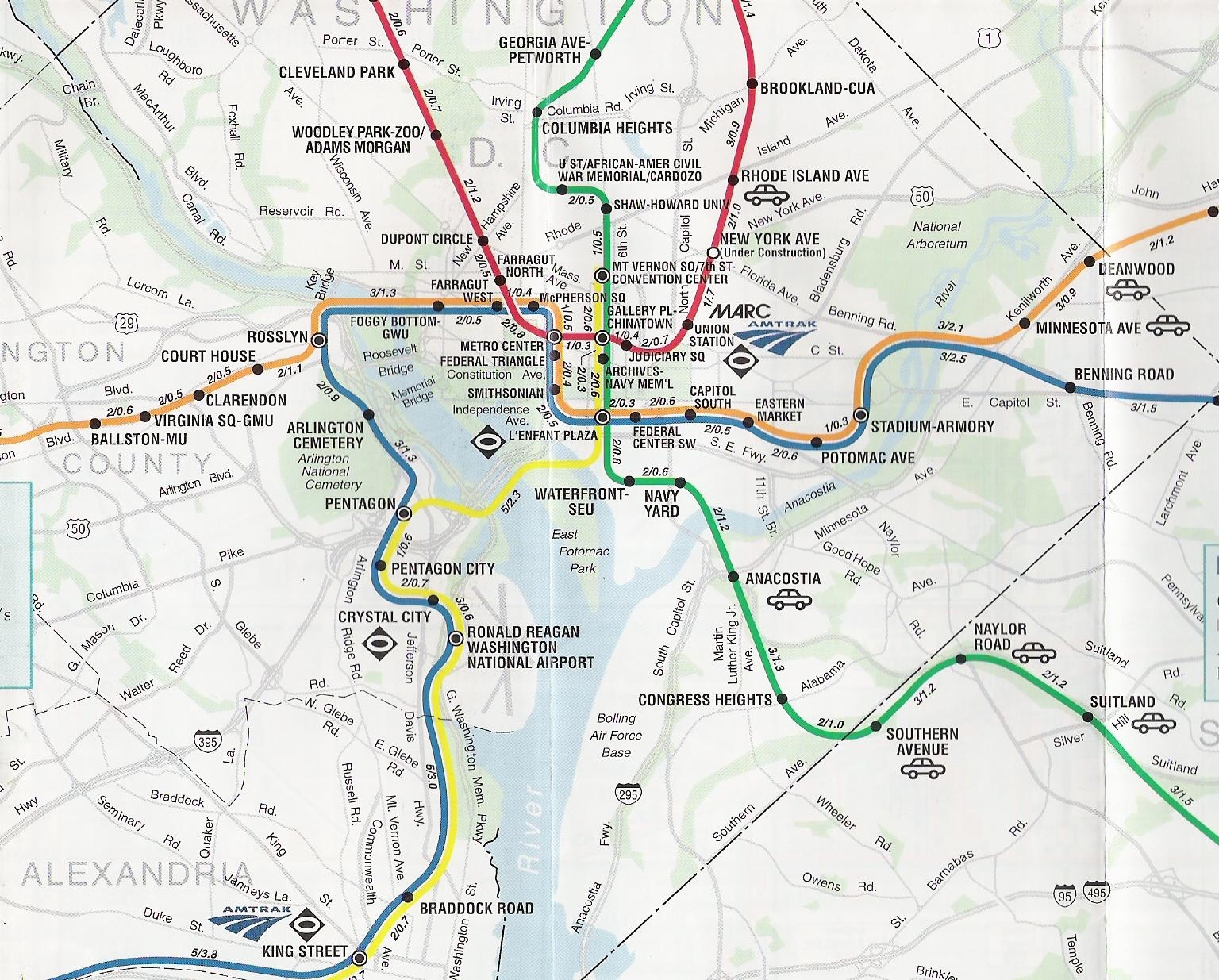 Subway Map Washington